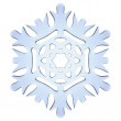 Blue decorative snowflake — Stock Photo