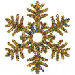 Decorative snowflake made of small stars confetti — Stock Photo