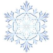 Copo de nieve decorativa hielo azul — Foto de Stock