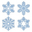 Blue frosty decorative snowflakes set — Stock Photo #35795731