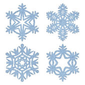 Blue frosty decorative snowflakes set — Stock Photo