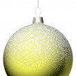 Yellow christmas ball — Stock Photo