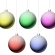 Foto Stock: Christmas balls set