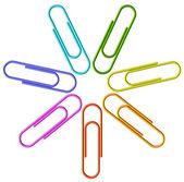 Gekleurde clip instellen — Stockfoto