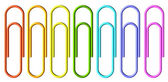 Colored paperclips set — Stock fotografie