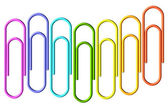 Colored paperclips wave — Stock Photo