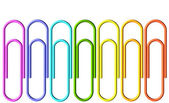 Colored paperclips collection — Stock Photo