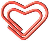 One paperclip heart — Stock Photo