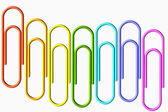 Colored paper-clips wave — Stockfoto