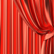 Stock Photo: Red theater curtain fragment