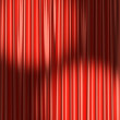 Red theater curtain under two spot lights — Stock Photo