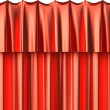 Stock Photo: Red silk curtain seamless background