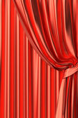 Red theater curtain fragment — Stock Photo