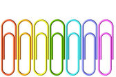 Colored paper-clips set — Stock Photo
