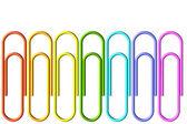 Colored paper-clips set — Стоковое фото
