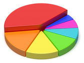 Creative abstract colorful pie chart — Stock Photo