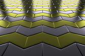 Metall mit gold pfeile blöcke bodenbelag perspektivische ansicht — Stockfoto
