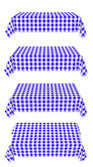 Set of horizontal tablecloth with blue checkered pattern — Stock Photo