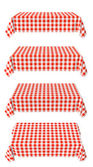 Set of horizontal tablecloth with red checkered pattern — Stock Photo