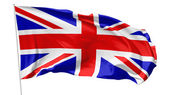 Flag of United Kingdom on flagpole — Stock Photo