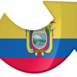 Ecuador flag — Stock Photo #14959083