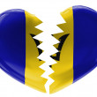 Barbados flag  — Stock Photo