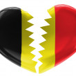 The Belgian flag - Stock Photo