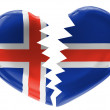 The Icelandic flag — Stock Photo #14959539