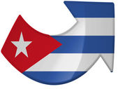 The Cuban flag — Stok fotoğraf