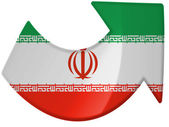 The Iranian flag — Stockfoto