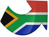 South African flag — Foto de Stock