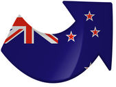 The New Zealand flag — Stok fotoğraf