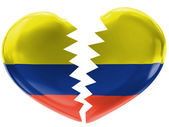 The Colombian flag — Foto Stock