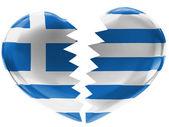 The Greek flag — Stock Photo