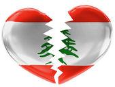 The Lebanese flag — Stock Photo