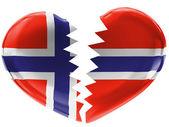The Norwegian flag — Foto de Stock