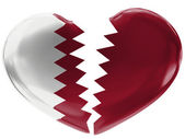 The Qatari flag — Foto de Stock