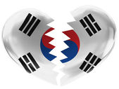 The South Korea flag — Foto de Stock