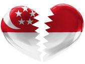 Vlajka singapuru — Stock fotografie
