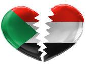 The Sudan flag — Foto Stock