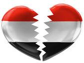 A bandeira do iémen — Foto Stock