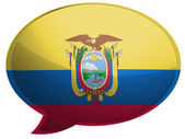 Bandiera ecuador — Foto Stock