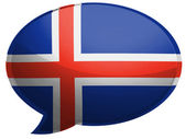 The Icelandic flag — Stock Photo