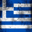The Greek flag — Foto de Stock