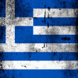 The Greek flag — Zdjęcie stockowe