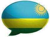 Ruanda flag — Стоковое фото