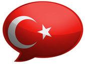 La bandiera turca — Foto Stock