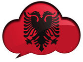 Albanian flag — Stock Photo