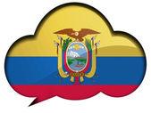 Ecuador flag — Stock Photo