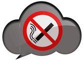 Kein rauchverbot an sprechen oder denken blase gezeichnet — Stockfoto